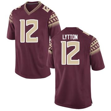 Men's A.J. Lytton Florida State Seminoles Replica Garnet Football College Jersey