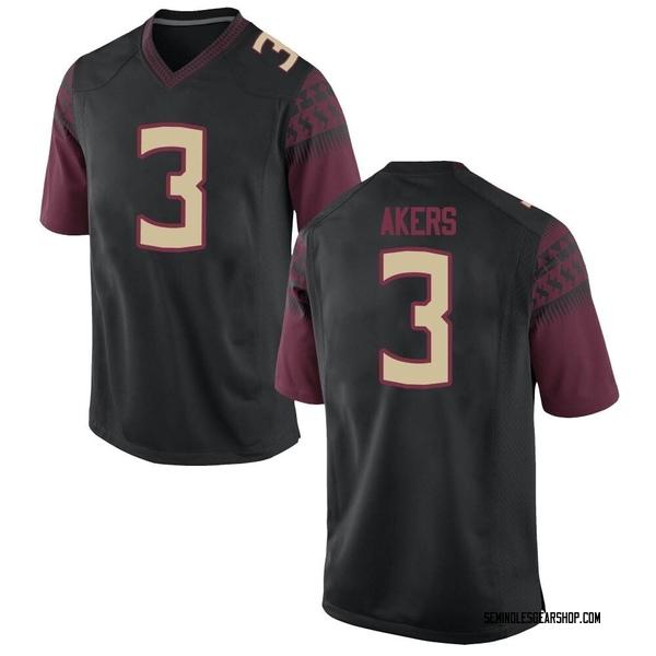 Men's Cam Akers Florida State Seminoles Nike Replica Black Football College Jersey