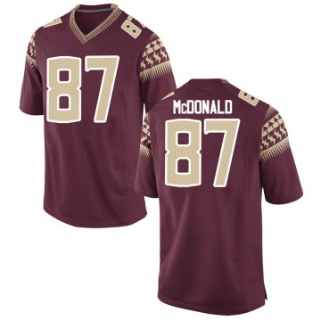 Men's Camren McDonald Florida State Seminoles Nike Game Garnet Football College Jersey
