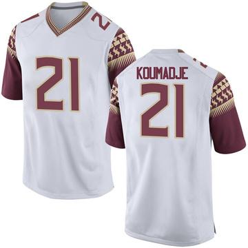 Men's Christ Koumadje Florida State Seminoles Nike Game White Football College Jersey