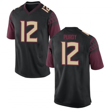 Men's Chubba Purdy Florida State Seminoles Nike Game Black Football College Jersey