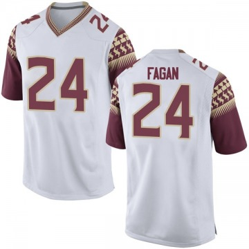Men's Cyrus Fagan Florida State Seminoles Nike Game White Football College Jersey