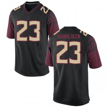 Men's Hamsah Nasirildeen Florida State Seminoles Nike Game Black Football College Jersey