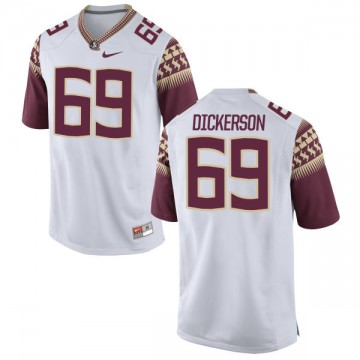 Men's Landon Dickerson Florida State Seminoles Nike Game White Football Jersey -