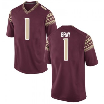 Men's Raiquan Gray Florida State Seminoles Nike Game Gray Garnet Football College Jersey