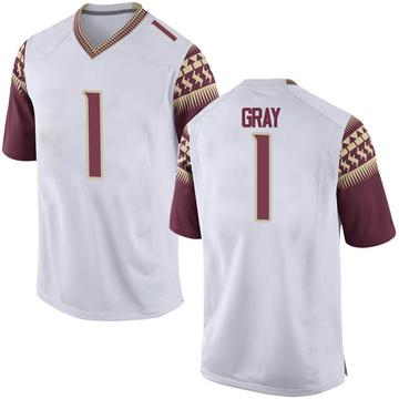Men's Raiquan Gray Florida State Seminoles Nike Game White Football College Jersey