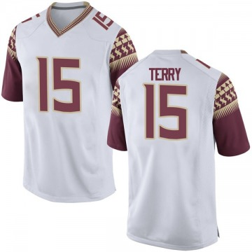 Men's Tamorrion Terry Florida State Seminoles Nike Replica White Football College Jersey