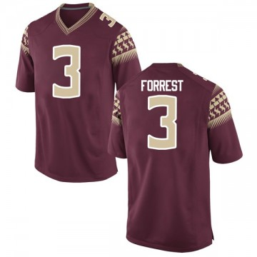 Men's Trent Forrest Florida State Seminoles Nike Game Garnet Football College Jersey