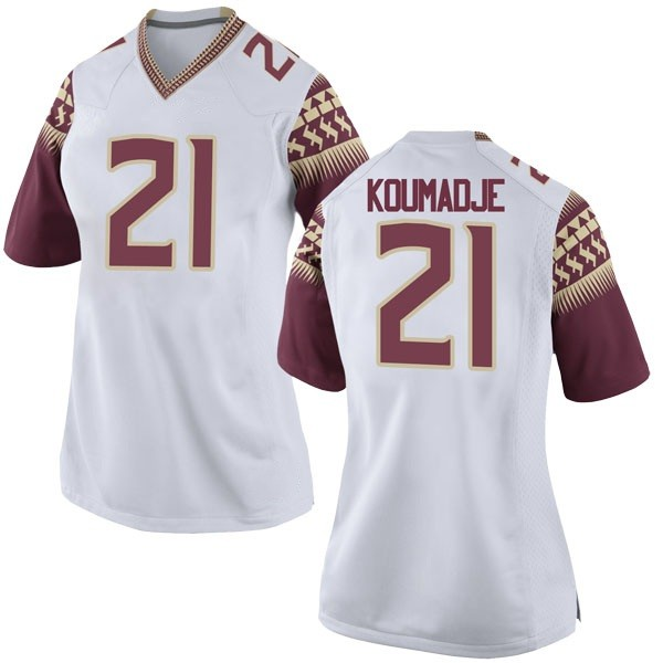 Women's Christ Koumadje Florida State Seminoles Nike Game White Football College Jersey