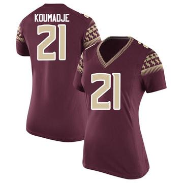 Women's Christ Koumadje Florida State Seminoles Nike Replica Garnet Football College Jersey