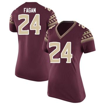 Women's Cyrus Fagan Florida State Seminoles Nike Game Garnet Football College Jersey