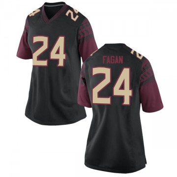 Women's Cyrus Fagan Florida State Seminoles Nike Replica Black Football College Jersey