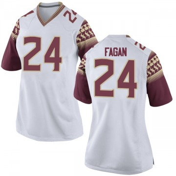 Women's Cyrus Fagan Florida State Seminoles Nike Replica White Football College Jersey