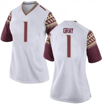 Women's Raiquan Gray Florida State Seminoles Nike Game White Football College Jersey