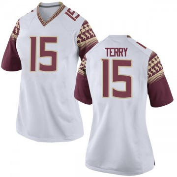 Women's Tamorrion Terry Florida State Seminoles Nike Game White Football College Jersey