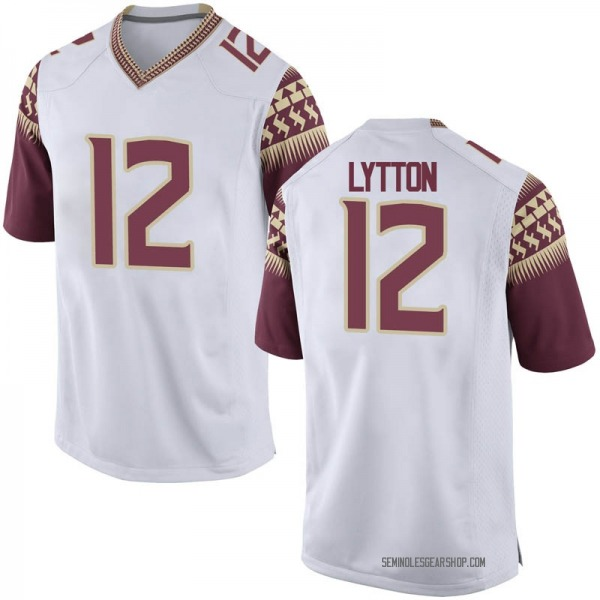 Youth A.J. Lytton Florida State Seminoles Nike Game White Football College Jersey