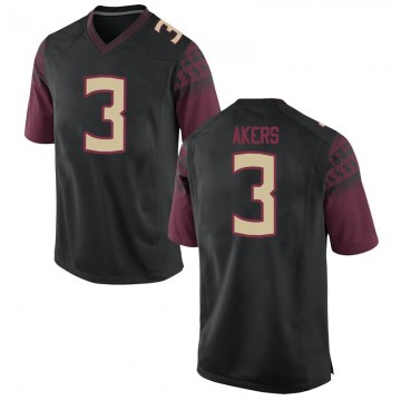 Youth Cam Akers Florida State Seminoles Nike Game Black Football College Jersey