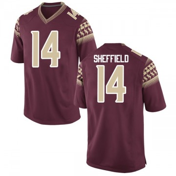 Youth Deonte Sheffield Florida State Seminoles Nike Game Garnet Football College Jersey