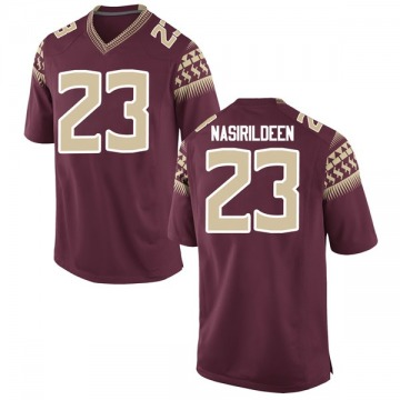Youth Hamsah Nasirildeen Florida State Seminoles Nike Game Garnet Football College Jersey