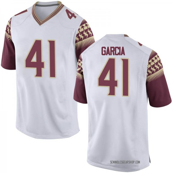 Youth Joseph Garcia Florida State Seminoles Nike Game White Football College Jersey