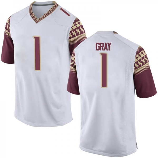 Youth Raiquan Gray Florida State Seminoles Nike Game White Football College Jersey